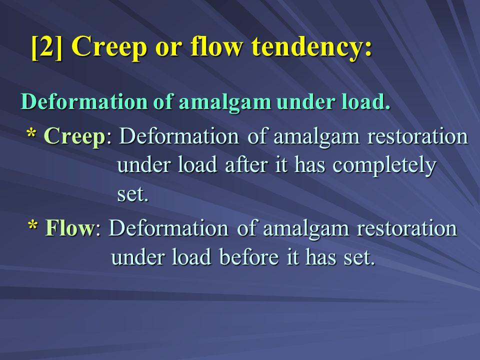 [2] Creep or flow tendency: